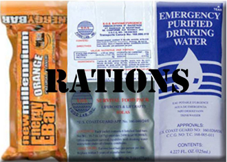 S.O.S. Food Bars-Water Rations-Survival Gear-ELT's